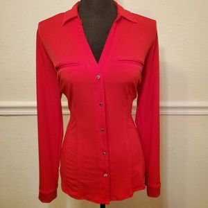 New! NY&C Red Blouse